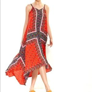 NWT NANETTE LEPORE RED CALYPSO HANDKERCHIEF DRESS